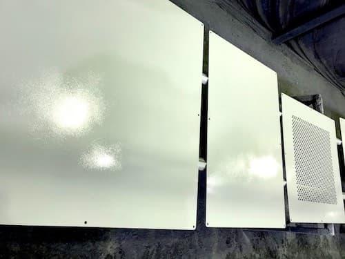 機械部品の溶剤塗装
