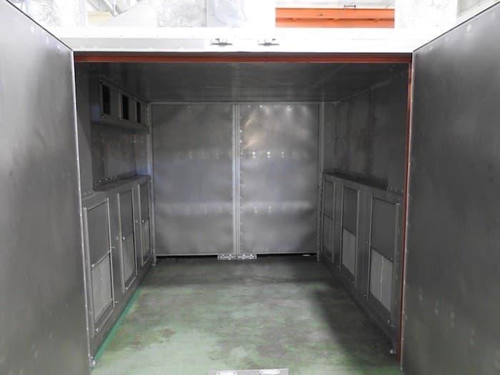 両開き乾燥炉ワークサイズ