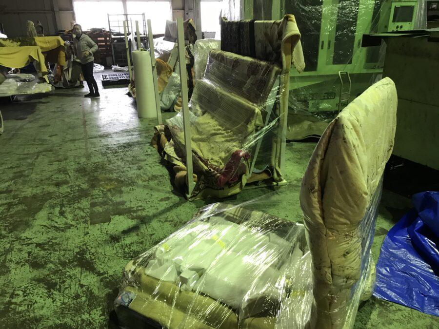 大型製品の塗装と梱包